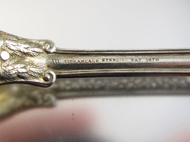 Tiffany & Co Patent 1878 Olympian Victorian sterling silver ice cream spoon