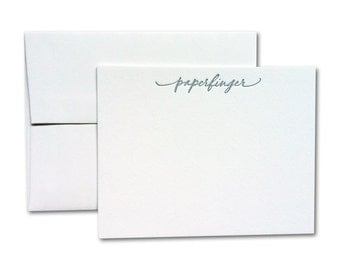 Custom Calligraphy Notes w/ Printed Envelopes (Set of 50)