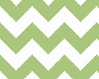 SUMMER SALE - Large Chevron Stripe in Green - sku C330 30 - 1 Yard - by Riley Blake Designs