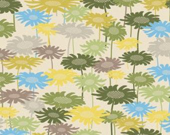 SUMMER SALE - In My Room -  Daydream in Green - 1 Yard - by Jenean Morrison for Free Spirit - sku PWJM072-Green