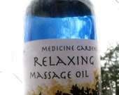 relaxing massage oil-- a light, nutritive, calming blend - medicinegardens