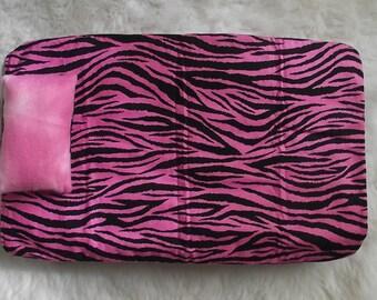 18inch Doll Pink Zebra Bedding(Reversible)