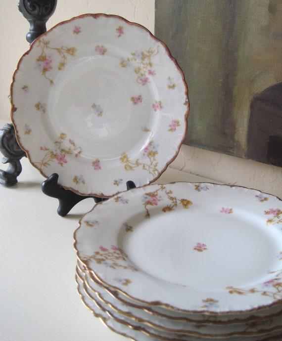 Antique Dessert Plates Set Of Six Limoges France Elite Works
