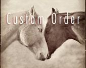 Custom Order - Horse Hug - 12x12