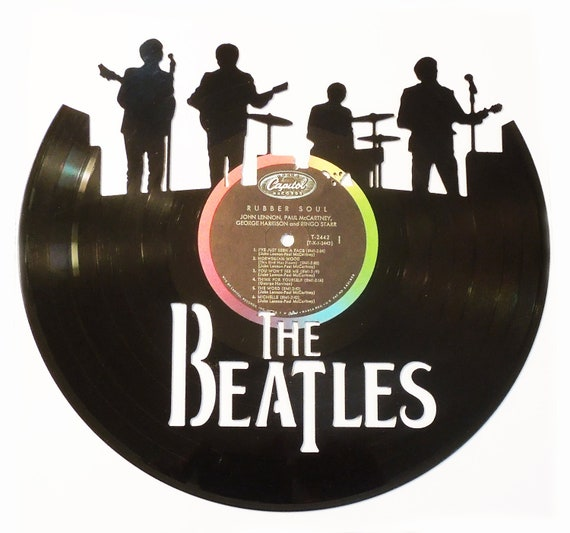 The Beatles On Stage Vinyl Record Silhouette