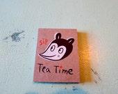"Silscreen Hand Made Book ""Tea time"""