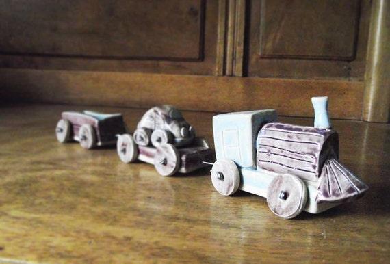 Little Ceramic Train - Stoneware (grès) Toy