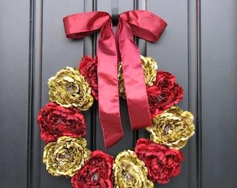 CHRISTMAS SALE Wreath, Holiday Wreaths, Christmas Decor, Front Door Wreaths, Holidays, Traditional Decor, January Wreaths