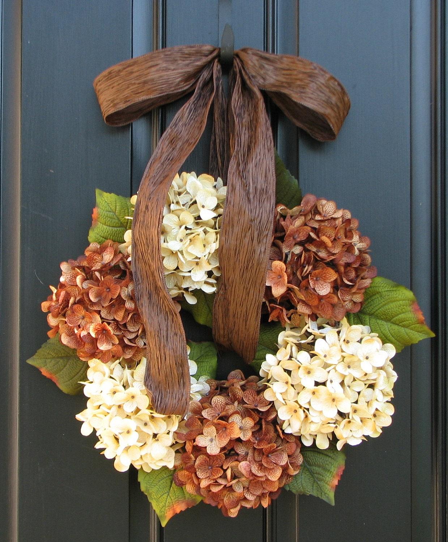 Fall Hydrangeas Wreaths Hydrangea Wreath Wreaths By