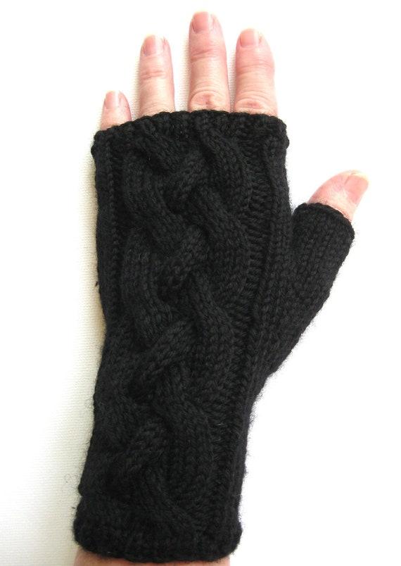 Black Fingerless Gloves for Women