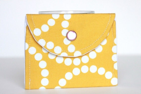 Bright Yellow Coin Wallet. Simple and Small Change Purse. Butter Yellow.