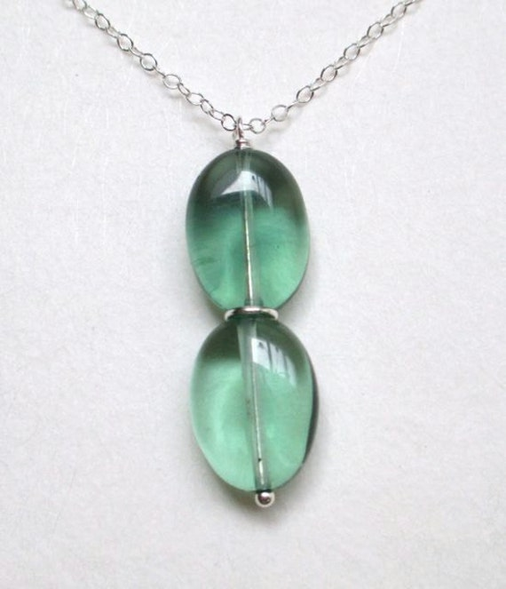 Flourite II, sterling and stone necklace