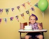 Happy Birthday Buntings -- Set of 2