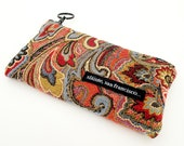 "Coin Purse in ""Tapestry"" Fabric. Epi pen carrier, Insulin case, Sunglass case, Red, blue, yellow, black."