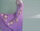 Hand painted silk dress MAGNOLIA