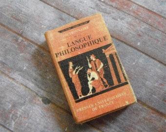 Miniature Langue Philosophique Book