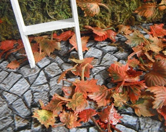 100 Miniature Handpainted Leaves