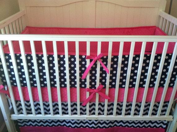 modern navy and pink crib bedding. Black Bedroom Furniture Sets. Home Design Ideas