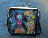 Skeleton Couple Decorated Coin Purse