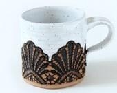 Handmade Moroccan Lace Mug in White