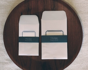 tracing paper envelope - set of 5 - label - small