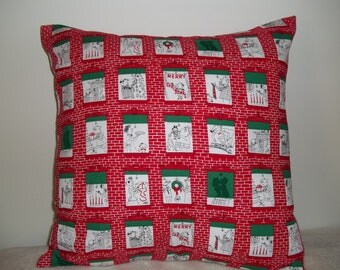 Christmas Windows Pillow Covers - Set of 2