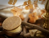 Fireside Story - natural solid perfume in brass compact - ForStrangeWomen