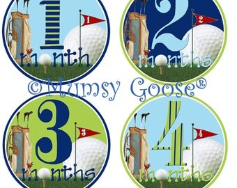 Baby Boy Stickers Baby Months Stickers Boy Milestones Month Baby stickers Boy Golf Stickers Great Newborn Photo Prop