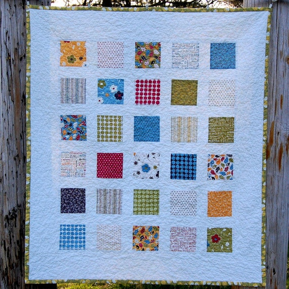 Make Life Windowpanes Baby Quilt - READY TO SHIP