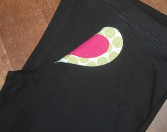 Double Layer Heart Bum full length yoga pants / READY TO SHIP / Size 2 / Girls 2nd birthday