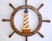 Lighthouse in Ships Wheel