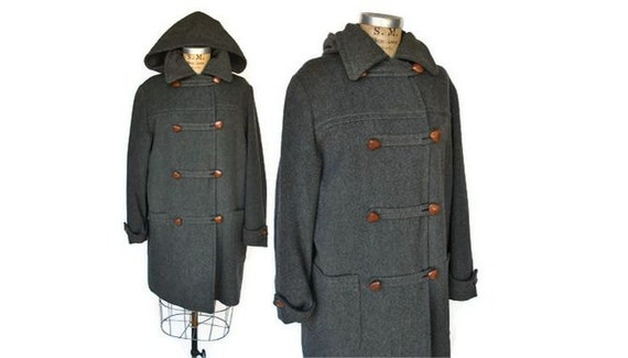 RESERVED for Sara...1960s Wool Coat Jacket / toggle front swing coat