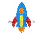 Machine Embroidery Design Rocket Mini INSTANT DOWNLOAD