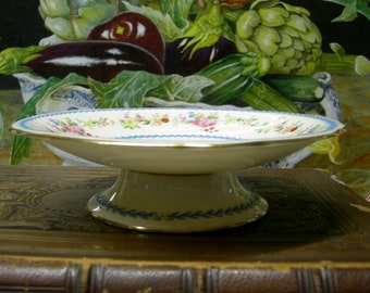 Antique Minton Footed Cake Plate - Pastry Server - Minton China, England  -  REDUcED