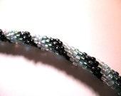 Skinny Beaded Headband-- Northern Lights Color Mix