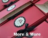 Fold Layered Wedding Program Book with Ribbon Tie - Set of 50