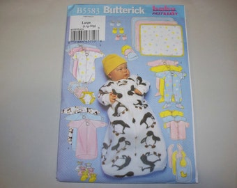 New Butterick Baby Clothes Pattern B5583 (Large) (Free US Shipping)
