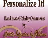Personalize Your Ornament