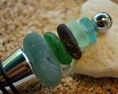 sea glass bottle stopper