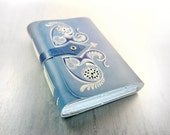 Ice Queen - Leather Journal - Blue Notebook / Diary - Hand Bound