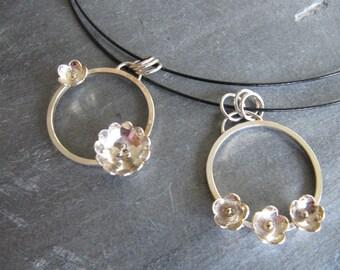 Flower Circle Necklaces