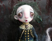 OOAK Victorian Gothic Ghost  Ghostie Doll with Ectoplasm by Gail Lackey