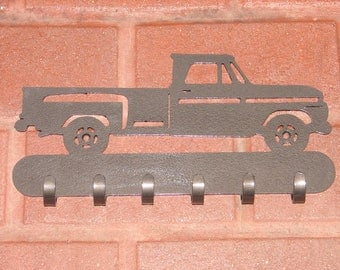 Vintage Pick Up Truck KEY RACK 2 Hat Coat Hook Leash Hanging Hook