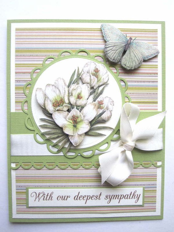 Sympathy card, condolences, with sorrow, loss of loved one