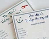 Bridge Score Pad Personalized