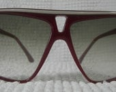 Vintage Laguna Sunglasses Made in Italy Burgundy