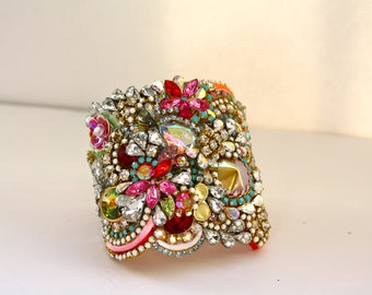Doloris Petunia One of a Kind Custom Cuff - Sold Out
