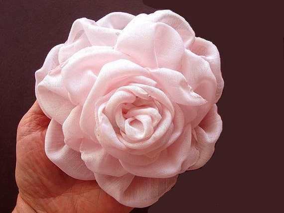 Bridal flower, Fabric flower tutorial, Floral tutorial # 50, VIDEO tutorial included, accessories,  weddings, brooch, hair pin, barrettes
