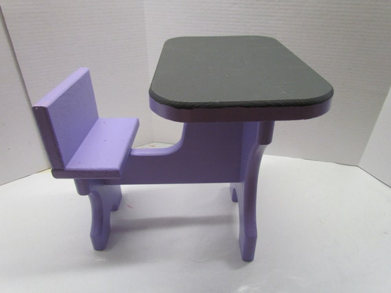 Wooden Doll School Desk with Chalk Top