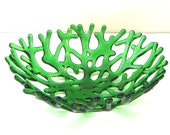 Coral Bowl in Spring Green Art Glass - Unique Gifts
